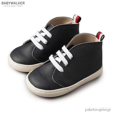 Δερμάτινα Ημίμποτα Μπλε Sneakers Babywalker BW4031
