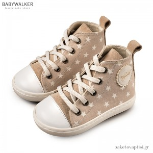 Δετά Υφασμάτινα Μπεζ Μποτάκια Sneakers Babywalker BW4063
