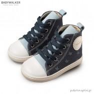Δετά Υφασμάτινα Μπλε με Σιέλ Μποτάκια Sneakers Babywalker BW4063
