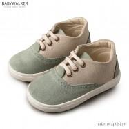 Δετά Μπεζ με Μέντα Sneakers Babywalker BW4098
