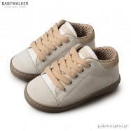 Δετά Λευκά με Μπεζ Sneakers Babywalker BW4111