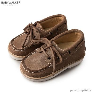 Δερμάτινα Δετά Παπούτσια Βάρκας Babywalker BW4143