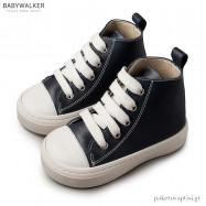 Δερμάτινα Δετά Μπλε Μποτάκια Sneakers Babywalker BW4146