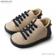 Δετά Μπεζ με Μπλε Sneakers Babywalker BW4147