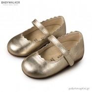 Δερμάτινα Χρυσά Γοβάκια Babywalker BW4597