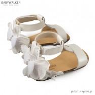 Δερμάτινα Εκρού Πέδιλα με Διακοσμημένη Φτέρνα Babywalker BW4636