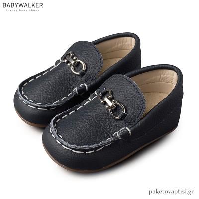 Δερμάτινα Μπλε Loafers με Αγκράφα Babywalker BS3006