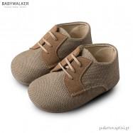 Δετά Υφασμάτινα Μπεζ Brogues Babywalker BS3013