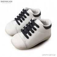 Δετά Λευκά με Μπλε Sneakers Babywalker BS3025
