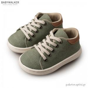Υφασμάτινα Δετά Χακί Sneakers Babywalker BS3029