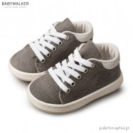 Υφασμάτινα Δετά Γκρι Sneakers Babywalker BS3029
