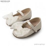 Γοβάκια Εκρού με Δαντελένιο Φιόγκο Babywalker BS3541