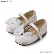 Λευκά Γοβάκια Διακοσμημένα με Μπαρέτα Strass Babywalker BS3542