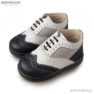 Δετά Λευκά με Μπλε Brogues Babywalker EXC5039