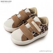 Sneakers από Ύφασμα και Δέρμα με Διπλό Velcro Babywalker EXC5139