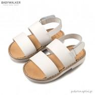 Δερμάτινα Λευκά Σανδάλια Babywalker GR0038