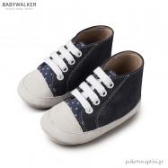 Δετά Καστόρινα Μποτάκια Αγκαλιάς Λευκό-Μπλε Babywalker MI1034