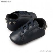 Δερμάτινα Μπλε Δετά Sneakers Αγκαλιάς με Καρφάκια Babywalker MI1059