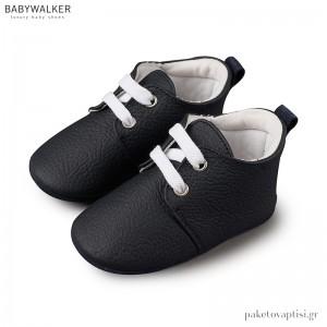 Δερμάτινα Μπλε Δετά Sneakers Αγκαλιάς Babywalker MI1063