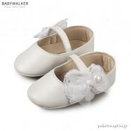 Δερμάτινες Λευκές Μπαλαρίνες Αγκαλιάς Babywalker MI1555