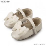 Δερμάτινες  Μπαλαρίνες Αγκαλιάς με Chiffon Φιόγκο Babywalker MI1567
