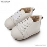 Δερμάτινα Δετά Λευκά Sneakers Babywalker PRI2028