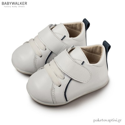 Δερμάτινα Sneakers με Μονή Μπαρέτα Babywalker PRI2045