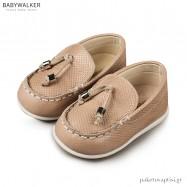 Δερμάτινα Δετά Μπεζ Loafers Babywalker PRI2062
