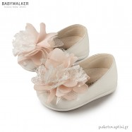 Δερμάτινα Γοβάκια με Μεγάλο Υφασμάτινο Λουλούδι Babywalker PRI2561