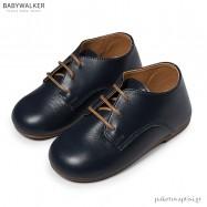 Δερμάτινα Δετά Μπλε Derby Shoes Babywalker BW4171