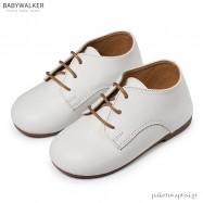 Δερμάτινα Δετά Λευκά Derby Shoes Babywalker BW4171
