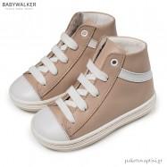Δετά Δερμάτινα Μπεζ Μποτάκια Babywalker BW4175