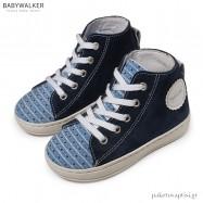 Δετά Μπλε με Σιέλ Μποτάκια Babywalker BW4177