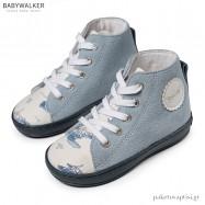 Δετά Λευκά με Σιέλ Μποτάκια Babywalker BW4177