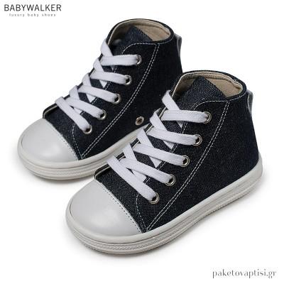 Δετά Υφασμάτινα Μπλε Μποτάκια Babywalker BS3044