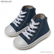 Δετά Υφασμάτινα Μπλε Ρουά Μποτάκια Babywalker BS3044