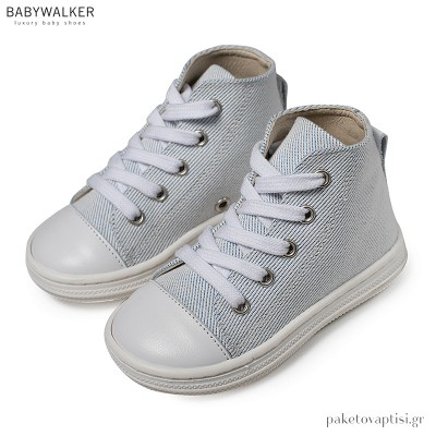 Δετά Υφασμάτινα Λευκά Μποτάκια Babywalker BS3044