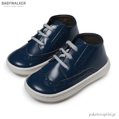 Δερμάτινα Δετά Μπλε Brogues Babywalker BS3045
