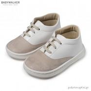 Δετά Sneakers Λευκό με Μπεζ Babywalker BS3047