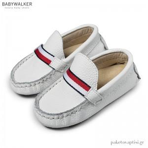 Δερμάτινα Λευκά Loafers Babywalker BS3048