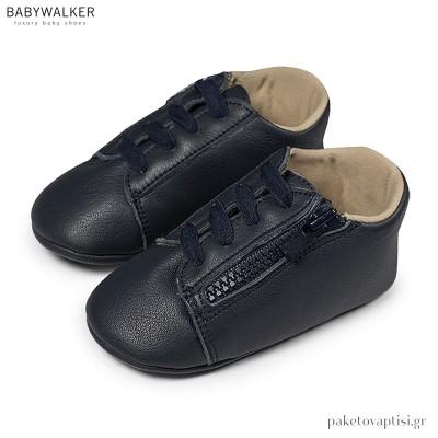 Δερμάτινα Μπλε Sneakers Αγκαλιάς Babywalker MI1071