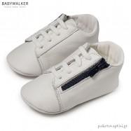 Δερμάτινα Λευκά Sneakers Αγκαλιάς Babywalker MI1071
