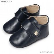 Δερμάτινα Μπλε Derby Shoes με Velcro Babywalker MI1078