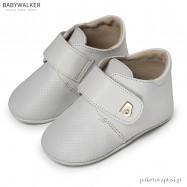Δερμάτινα Λευκά Derby Shoes με Velcro Babywalker MI1078
