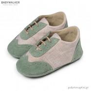 Δετά Δερμάτινα Δίχρωμα Brogues Αγκαλιάς Babywalker MI1083