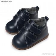 Δερμάτινα Μπλε Ημίμποτα με Διπλό Velcro Babywalker PRI2065