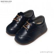 Δερμάτινα Μπλε Brogues Babywalker PRI2070