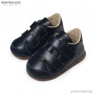 Δερμάτινα Μπλε Sneakers με Διπλό Velcro Babywalker PRI2072