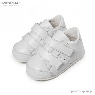 Δερμάτινα Λευκά Sneakers με Διπλό Velcro Babywalker PRI2072