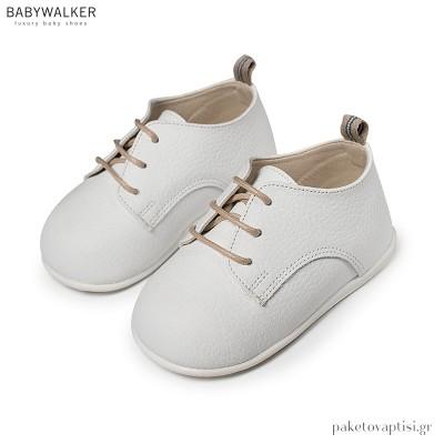 Δερμάτινα Λευκά Derby Shoes Babywalker PRI2074